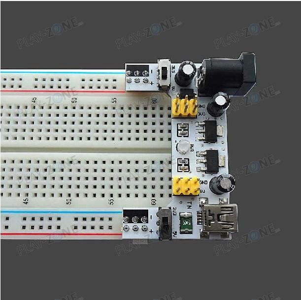 DK 3 3V / 5V power adaptor for Breadboards with red status LED