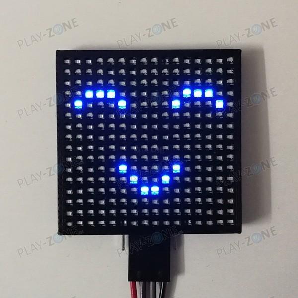 16x16 LED-Matrix / UART / 44mm x 44mm / Blau