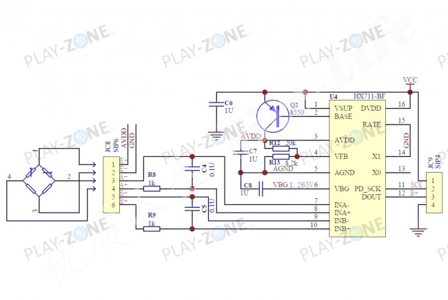 Load Cell Amplifier - HX711 / 24 x 16mm