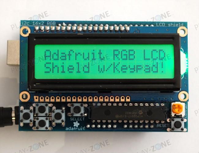 Adafruit RGB LCD I2C Shield Kit 16x2 Chars Display - Positive