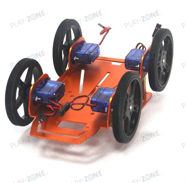 Mini Robot Rover Chassis Kit - 4WD