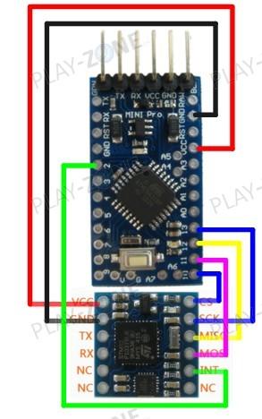 GY MPU-9250 Accelerometer/Gyro/Kompass SPI + Serial 3 3V/5V
